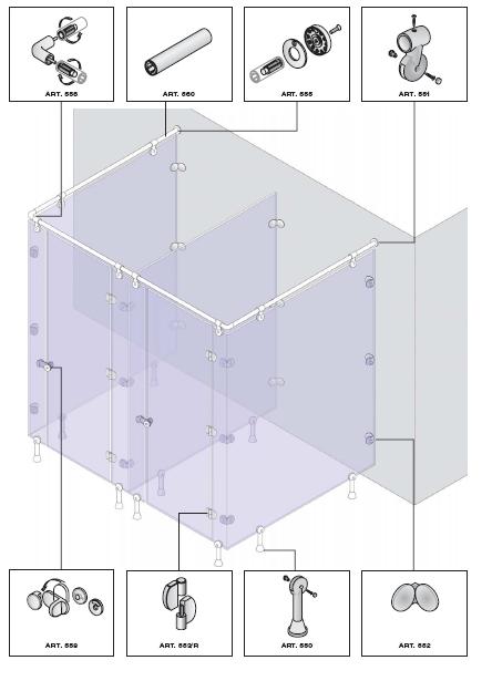 Схема монтажа сантехнических